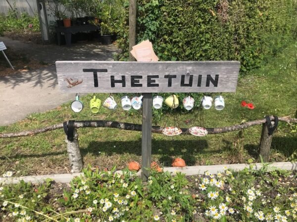 Theetuin in de Hortus in Alkmaar